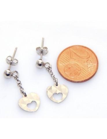Silver 925 : wedding earrings natural pearl