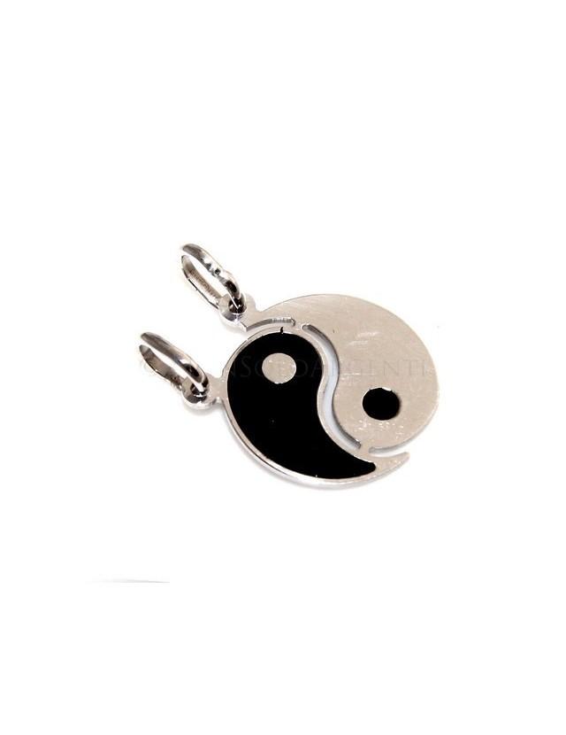 fine silver, pendant yin and yang