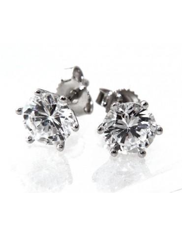 genuine 925 silver earrings for women man onion domed 4mm cubic zirconia