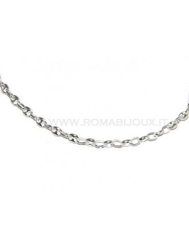 ARGENTO 925 : Collana girocollo o lunga maglia marina chiara, per uomo o donna