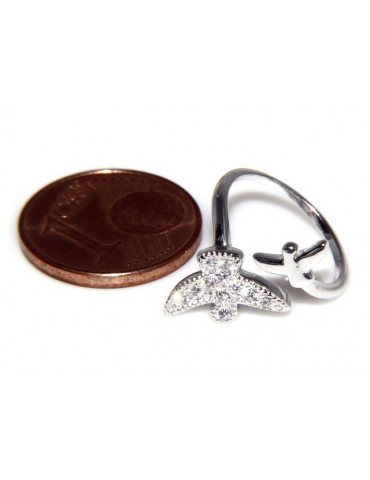 Silver 925 &  Rhodium: ring for woman, foot ring
