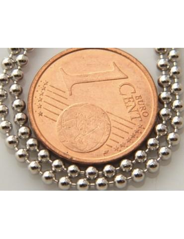 ARGENTO 925 : Girocollo collana pallini palline balls 1,8 mm varie lunghezze modello con trattamento di rodiatura