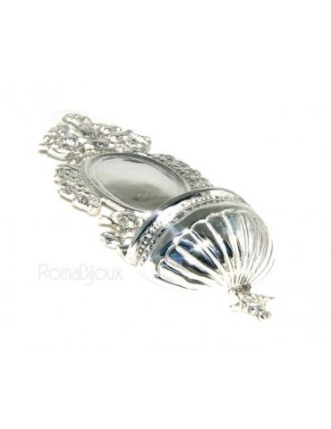 collana con centrale cuore doppio brillanti micropietre