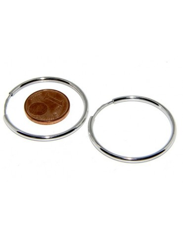 925: earrings woman anelle circles classic smooth bushings 30 mm