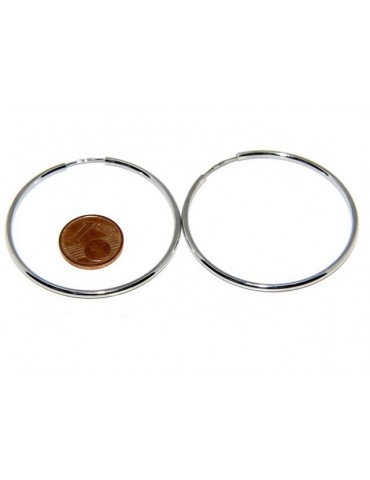 925: Women's earrings anelle circles classic smooth bushings 46 mm