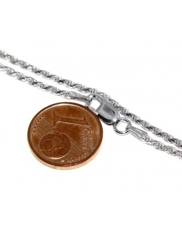 SILVER 925: Choker necklace chain rope wire 1.50mm