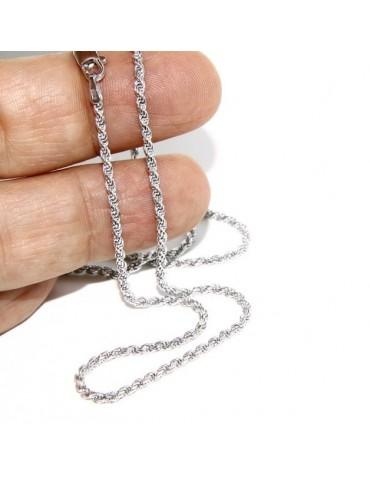 ARGENTO 925 : Girocollo collana rope chain cavetto 2,00 mm
