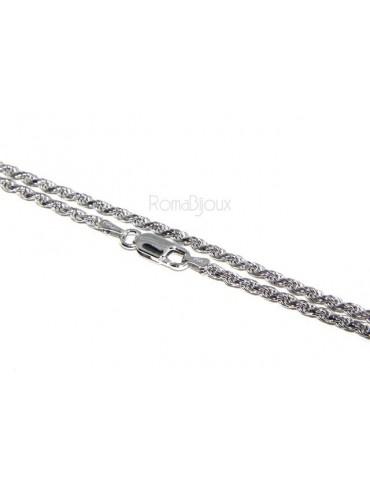 ARGENTO 925 : Girocollo collana rope chain cavetto 2,20 mm