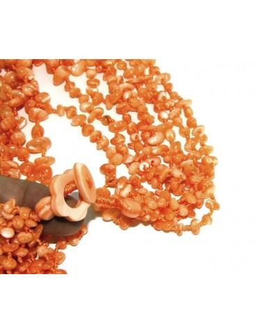 Necklace by Donna Collier Cleopatra 8 orange natural orange pearl strands