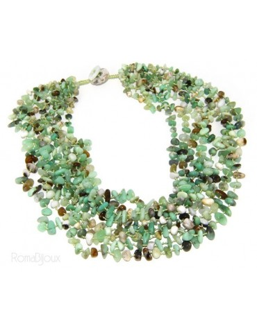 Necklace by Donna Collier Cleopatra 8 wires natural green chrysoprase