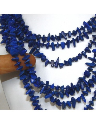 Necklace by Donna Collier Cleopatra 8 wires natural blue Lapis