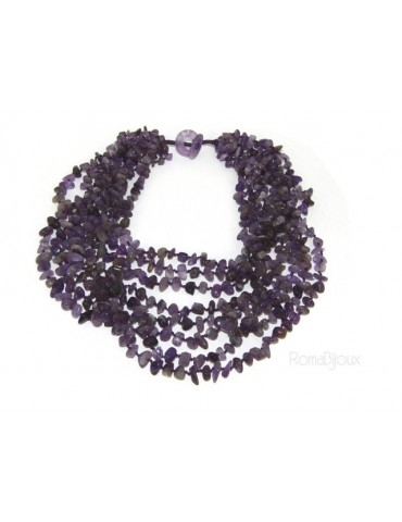 Necklace by Donna Collier Cleopatra 8 wires Natural purple amethyst