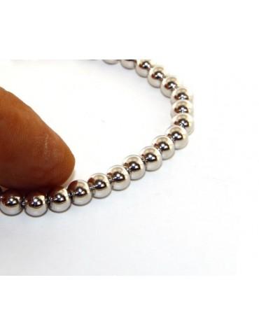 SILVER 925: Bracelet man woman balls 5 mm lung 15:00 20:00 cm