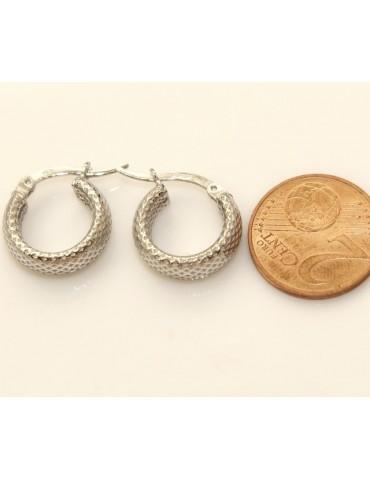 Argento 925 : orecchini donna uomo anelle cerchi scattino lavorati nido d'ape