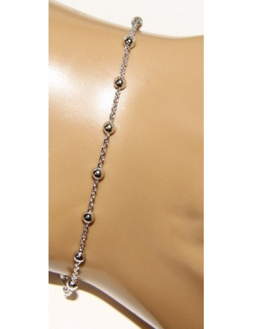 Bracciale rosario uomo o donna in Argento 925 croce liscia rod Oro bianco o giallo lungo corto