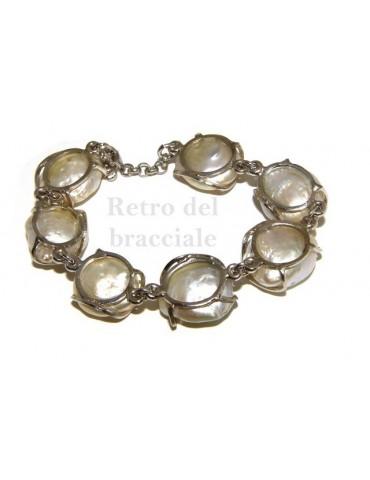 Argento 925 : Bracciale donna mega perle naturali barocche scaramazze