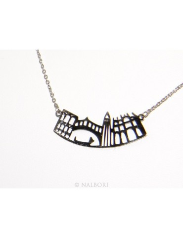 Steel: Exclusive necklace forzatina city skyline souvenirs of Italy Venice