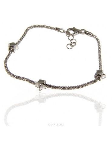 925: popcorn woman bracelet with star  17-19 cm