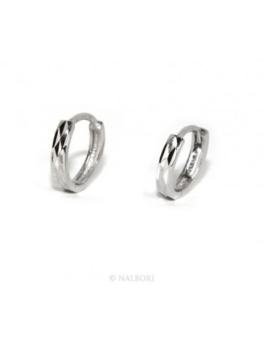 925: massive earrings snap male or female small diamond 12.5 mm (a pair))