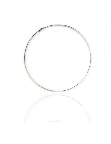 ARGENTO 925 : choker collare collana donna per CHARME ciondoli chiusura brevettata tondo