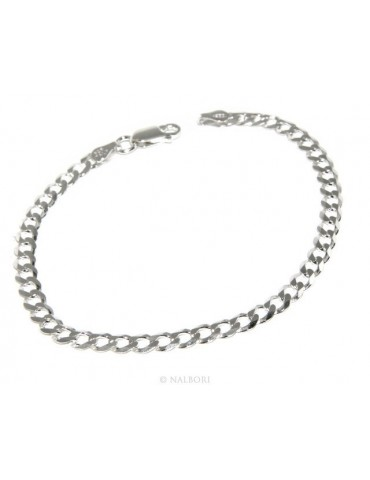 SILVER 925: Necklace or Man's Bracelet Women's Bracelet Diameter 4 mm Light Bleached