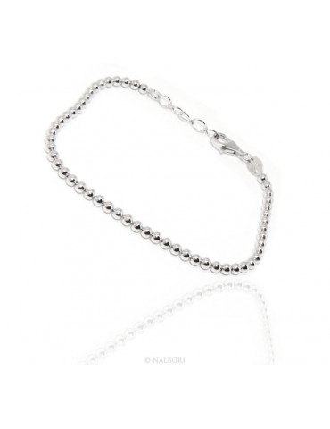 NALBORI bracelet women balls in silver 925 long or short