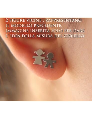 NALBORI orecchini Argento 925 massiccio bambino bimbo o Bambina bimba Oro Giallo bianco chiaro e satinato
