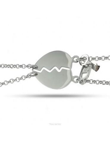 double hypoallergenic steel bracelet he her heart key padlock