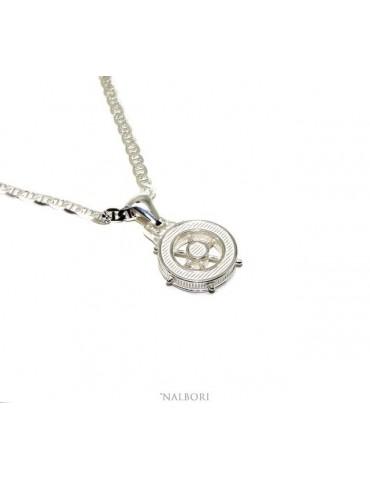 collana in argento 925 massiccio timone