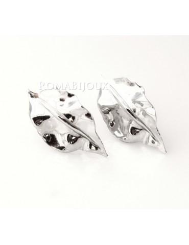 Gioielli donna in argento 925 realizzati in microfusione foglia argento