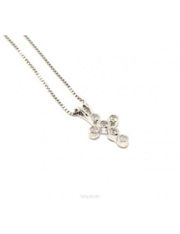 Collier donna o uomo veneziana con ciondolo croce piccola NALBORI