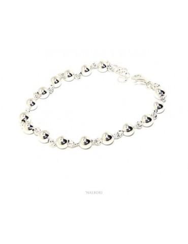 bracciale argento 925 sfere...