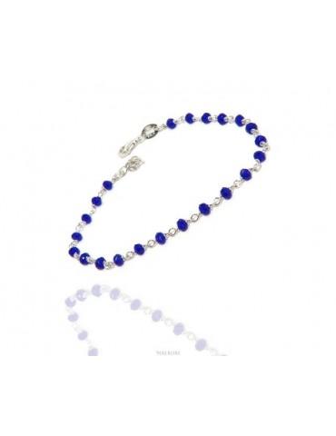 N0698 Linea Marsigliesi braccialetto argento 925 con cristallo semitrasparente blu  NALBORI