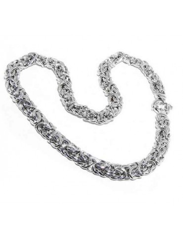 N544 collana donna collier argento 925 catena bizantina da 12 mm NALBORI