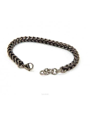 NALBORI Bracelet in dark snake steel