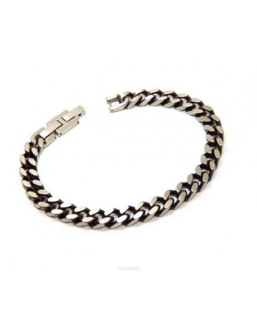 NALBORI Dark diamond-embellished steel bracelet