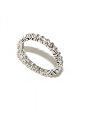 anello eternity argento 925 zirconi bianchi 2,5 mm