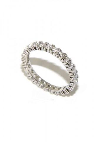 anello eternity argento 925 zirconi bianchi 2,5 mm