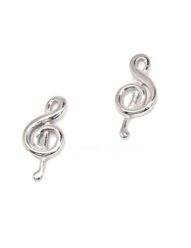 Orecchini argento 925 con chiave di violino