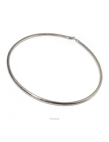 Nalbori choker semi-rigid 925 silver snake collar necklace