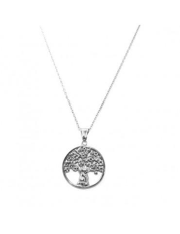 collana in acciaio anallergico con albero della vita
