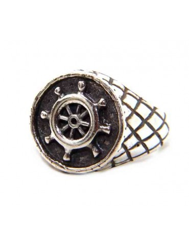 NALBORI Ring Silver 925 chevalier shield adjustable helm