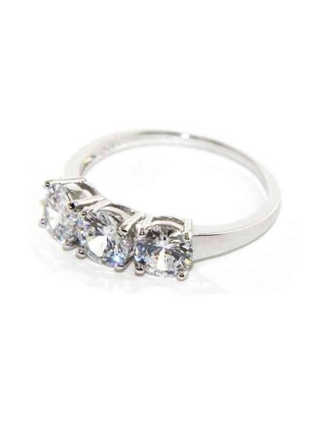 anello trilogy donna argento 925 con zirconi bianchi da 0,6 - N0595