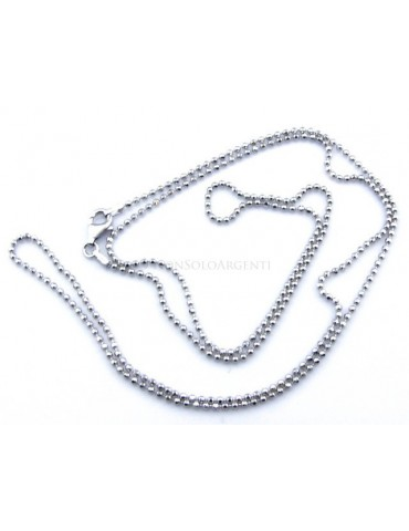 SILVER 925: Choker necklace dots balls balls balls diamond various lengths from 1.8 mm