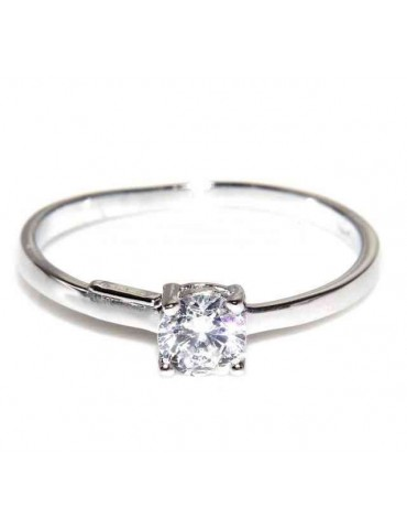 925 Rhodium: Solitaire with...