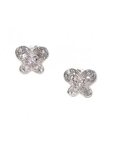 NALBORI 925 silver butterfly cubic zirconia earrings