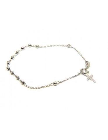 NALBORI 925 silver rosary bracelet 3 mm balls simple 18.00 cm