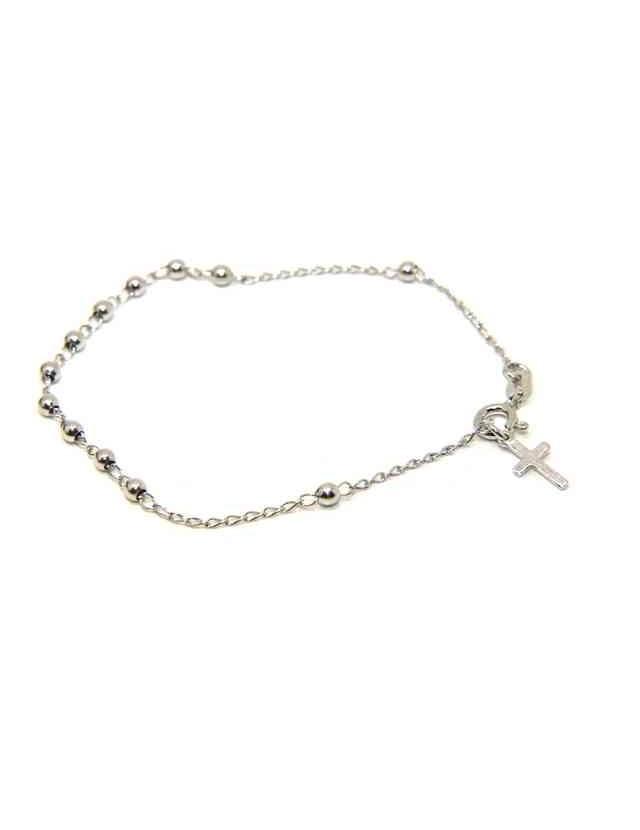 NALBORI Bracciale rosario Argento 925 palline 3 mm cm 18,00