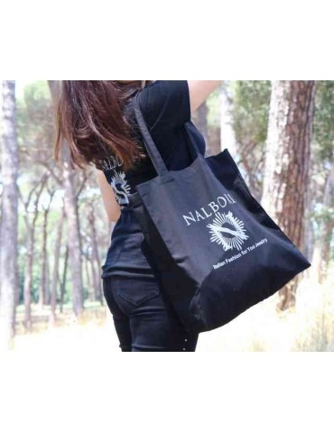 NALBORI cotton t-shirt black + shopper jumbo