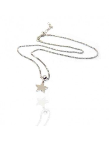 NALBORI 925 silver woman popcorn necklace with star pendant